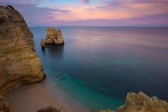 Deep purple sunset (Artur Tomaz Photography) Tags: algarve clouds green lagos pontadapeidade sky beach blue cliff exposition light purple rock sand sea water