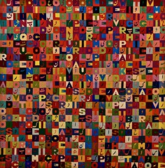 Positive Negative (Image 2 of 3) (1988-89) - Allighiero Boetti(1940 - 1994) (pedrosimoes7) Tags: allighieroboetti berardocollection centroculturaldebelem belem portugal ✩ecoledesbeauxarts✩ color coulors couleur cor masterpiecemansion