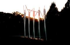 Laumeier Sculpture Park - Solstice by William King, St. Louis, Missouri (Joseph Hollick) Tags: stlouis missouri 35mmfilm 35mm mamiya sculpture