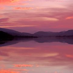 Bala Sunset (2) (daveh_72) Tags: landscape lake sunset scene water wales snowdonia bala olympus epl7 zuiko 50mmf18 legacy