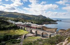 Black 5 No. 44871 - Loch Nan Uamh Viaduct (Jonathon Gourlay) Tags: jacobite 44871 steam train loch nan uamh sun coast sea water railway