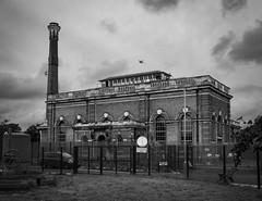 Cricklewood Pumping Station (London Less Travelled) Tags: england britain uk unitedkingdom london cricklewood brent gladstonepark park industrial water pumping monochrome urban