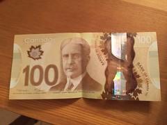 Canadian 100 dollar bill (splinky9000) Tags: my happy birthday colin clark 92217 september 22nd 2017 kingston ontario gifts presents 18th canadian hundred dollar bill money sir robert borden prime minister