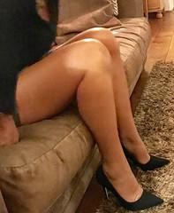 MyLeggyLady (MyLeggyLady) Tags: cleavage thighs miniskirt secretary hotwife teasing milf sexy cfm pumps stiletto legs heels