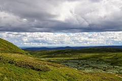 Layers. (janrs7) Tags: view layers mountains lowclouds clouds menacingclouds longdistance nordiclandscape landscape mountainview sunny summer july norway norge afsnikkor1855mmf3556