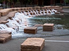 Jamison Square Stone Step Falls 1 of 3 (Orbmiser) Tags: nikkor28105mmf3545afd d90 nikon oregon portland summer jamisonsquare park fountain steps stone sculpture
