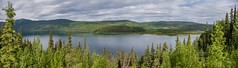 Dease Lake Panorama (MIKOFOX ⌘) Tags: panorama historicsite june learnfromexif canada lake provia xt2 minesite mikofox cassiar britishcolumbia water forest bc fujifilmxt2 showyourexif landscape spring clouds xf18135mmf3556rlmoiswr