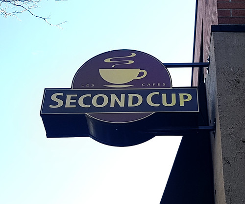 Old Second Cup sign in 2017