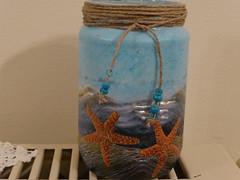 Αποχαιρετισμός στο καλοκαίρι!   P1000121 (amalia_mar) Tags: jar decoupage decoration art