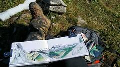 Chablais, Pas de la Bosse (Croctoo) Tags: croctoo croctoofr croquis aquarelle watercolor montagne chablais abondance