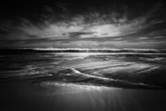 beach 16.3 (Andrew C Wallace) Tags: ir infrared blackandwhite bw thephotontrap microfourthirds m43 olympusomdem5 number16beach rye victoria australia longexposure nd400 wave ocean slowwater