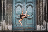 Dance in Lyon, Agathe by Yanis Ourabah (Yanis Ourabah) Tags: yanis ourabah photographe lyon lyonnais dance dancer dancing jump jumping air free freddom arch architecture street ballet ballerina opera body swimsuit silhouette woman female girl france french nikon d750 church cloister stairs arts performing performance action outdoor sports skills fit gym fitness stretch door color colour sigma 70200 photographer professional saut sauter tourisme lyonnaise rhone alpes