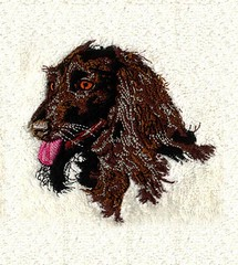 Digitize Logo For Embroidery (DigitEMB - Embroidery Digitizing Services) Tags: delightfully shaggy dog embroidery design