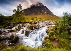 Buachaille Etive Mòr, Glencoe, Scotland. (Greig Reid) Tags: longexposure water atmospheric landscape waterfall highlands glencoe scenic buachailleetivemòr color landscapeformat misty scotland colour