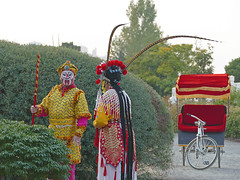 Chinese opera performers and rickshaw (Liz Satter) Tags: tacoma tacomamoonfestival moonfestival chinesereconciliationprojectfoundation chinesereconciliationpark rustonway southsound piercecounty pnw wa waterfront culture chineseopera