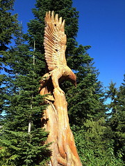 Carved Eagle - Grouse Mountain (FernShade) Tags: vancouver grousemountain northshoremountains carvedwoodeagle sculpture art outdoors