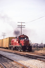 GB&W RS3 #308 working on the north side of Green Bay on 10/6/84 (LE_Irvin) Tags: gbw greenbaywi rs3