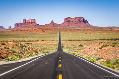 The road (NettyA) Tags: 2017 50mmlens arizona monumentvalley navajotribalpark sonya6000 usa clouds travel road post13 roadmarker13 yellowlines landscape ushighway163 mile13