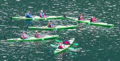 Kayak School (Julian Chilvers) Tags: norway geiranger kayak lesson school water green