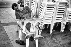 Anywhere will do 😴. (-Faisal Aljunied - !!) Tags: blackandwhitestreet napping sleeping singapore streetphotography ricohgr faisalaljunied