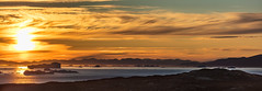 Midnight Sun in Ilulissat (Role Bigler) Tags: canoneos5dsr ef4070200isusml midnightsun mitternachssonne natur nature sonnenuntergang sunset eisberg greenland grönland iceberg nordatlantik northatlantic