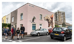 BOE & Irony (LukeDaDuke) Tags: boe irony streetart urbanart streetphotography urban art graffiti cat mouse mural muralart bristol england uk unitedkingdom britain greatbritain upfest upfest2017