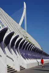 follow the line.. (leuntje) Tags: valencia spain espagne architecture calatrava santiagocalatrava lumbracle el puente de elpuentedelassut cityofartsandsciences ciudaddelasartesylasciencias turia