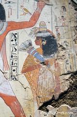 Wife of Nebamun (konde) Tags: nebamun 18thdynasty thebes newkingdom tombrelief tombpainting ancientegypt britishmuseum art treasure hieroglyphs