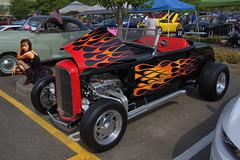 Hot Rod (swong95765) Tags: hotrod vehicle ford custom flames woman female hot convertible car paintjob
