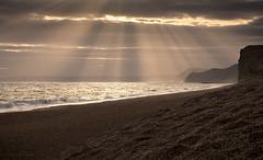 RayBands (Sarah_Brooks) Tags: crepuscularrays crepuscular rays landscape seascape light sunset dorset sunbeams beams sky cloud evening summer