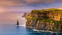 The Cliffs Of Moher - Ireland (~ Floydian ~ ) Tags: henkmeijer photography floydian ireland irish cliffsofmoher o'brienstower coast coastal coastline longexposure sunset evening dusk scenery landscape landscapes seascape seascapes leefilters leelittlestopper canon canon5dmarkiv