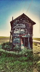 rural mediations.... (BillsExplorations) Tags: rural mediations graffiti country abandoned ruraldecay marked defaced musings illinois painted old weathered