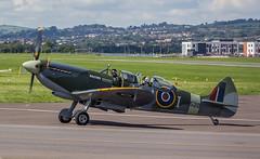 Supermarine Spitfire TR Mk IX SM520 G-ILDA @ Exeter Airport, Devon. (Devon & Cornwall Aviation Photography) Tags: supermarine spitfire tr mk ix sm520 gilda exeter airport devon airplane warbird flying flight avgeek avgeeks
