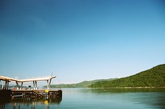 Wong Shek Pier (superzookeeper) Tags: eos1 analog film portra hk hongkong kodakportra160 portra160 kodak canoneos1 ef2470mmf28liiusm eos wongshekpier wongshek pier boat water sky skyline escape seaside sea over1000views favorites landscape