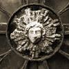 El Sol (Seeing Visions) Tags: 2017 argentina ar buenosaires recoleta cementeriodelarecoleta cemetery graveyard wroughtiron medallion metal sun face chipped peeling oxidized rusty monochrome sepia square raymondfujioka