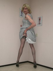 Straight seams. (sabine57) Tags: crossdressing transvestism crossdress crossdresser cd tgirl tranny transgender transvestite tv travestie drag pumps highheels stockings nylons seamedstockings seamednylons petticoat dress