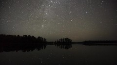 Stars and Moonrise over Alton Lake Island (Sam Wagner Photography) Tags: wide angle bwcaw boundary waters canoe area wilderness wild nature landscape long exposure northern travel mn minnesota alton lake 4k star astrophotography moon timelapse time lapse smooth water island