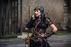 Steampunk (Werner Thorenz) Tags: tamron tamronafsp70300mm456divcusd 70300mm steampunk lapadu landschaftsparkduisburg landschaftspark women portrait people