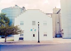 untitled-26-Edit (dvlmnkillatron) Tags: mamiya 645 1000s film analog selfdeveloped 120 mediumformat kodakportra400 mamiya6451000s kc illinois midwest ivesdale americanflag k c silos