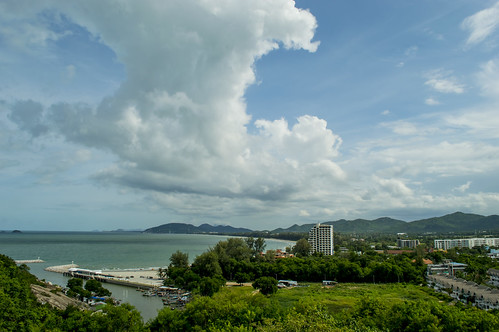 view of hua hin from temple