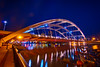 The Freddie-Sue Bridge, Rochester, NY (Douglas Gray) Tags: rochester ny night skyline xerox tower bridge frederick douglass susan anthony genesee river lights reflection reflections cityscape city long exposure