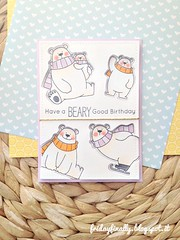 have a beary good bday! MFT card (fridayfinally) Tags: polarbearspals copicmarkers copic critters cutebackground copics cute clearstamps crittersparty celebrate cleanandsimplecard cardmaking colorful coloring cutecouple card cutescene distressink stencil bears scarf thanks thankyoucard happy handmadecard handmade happycritters happycard happymail hellocard happiness hello plaidbackground plaid lawnfawnplaidpaper dienamicsicebergs twine babycolors pastels winter winterscene winterseason