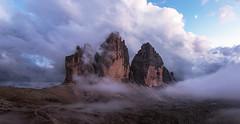 Lavaredo after sunset (diego.armando.parafango) Tags: dolomiti montagne mountain alpi alps sunset tramonto colori colord colors landscapes paesaggi alto adige