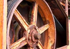 Wheels and Rust! (J.R. Rondeau) Tags: rondeau windsor ontario essexcounty farm equipment rust canoneos tamron2875 photoshopelements10 ruby3