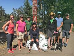 Beach Cleanup Teamwork