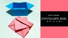 How to Make Origami Envelope Box-Easily Make An Origami Envelope Box-Origami Envelope Box-DIY (quickorigami) Tags: make origami envelope box