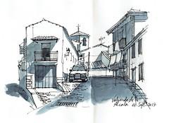 Valverde de Alcalá (P.Barahona) Tags: urbano calle urbansketcher rural arquitectura sombras