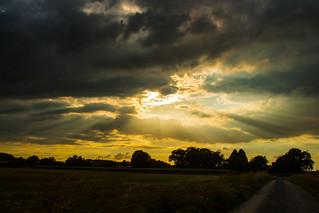 Dark Clouds vs. Sunset