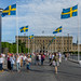 The Royal Palace in Stockholm after the wedding of Prince Carl Philip