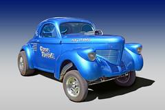 39 Willys Coupe (Brad Harding Photography) Tags: 1939 39 willys coupe antique gonepostal ottawa kansas carshow olmaraisriverruncarshow chrome skyblue hotrod streetrod customized